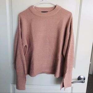 Topshop sweater with big cutoff sleeves
